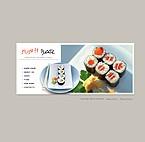 webdesign : Sushi, dish, flavor
