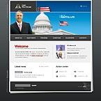 webdesign : politican, candidate, republic