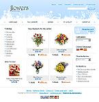 webdesign : lilies, catalog, chamomile