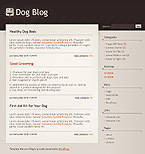 webdesign : dog, nformation, tick