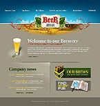webdesign : beer, malt, menu