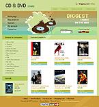 webdesign : DVD, shopping, cart