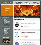 webdesign : store, cart, sound