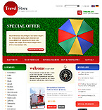 webdesign : tourist, tent, food