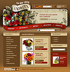 webdesign : store, flowers, gifts