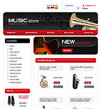 webdesign : shop, guitar, instruments