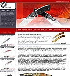 webdesign : online, knives, products
