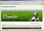 webdesign : dogs, forum, flea