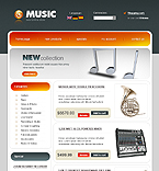 webdesign : music, store, band
