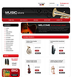webdesign : shop, loud, instruments