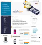 webdesign : account, shopping, privacy