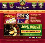 webdesign : lion, blackjack, slots