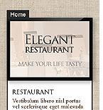 webdesign : menu, vegetarian, reservation
