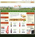 webdesign : store, Pinot, alcohol