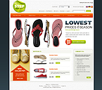 webdesign : products, slipper, athletic