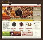 webdesign : store, spicy, flavour