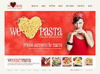 webdesign : pasta, restaurant, reservation