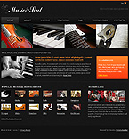 webdesign : clef, strings, melodies