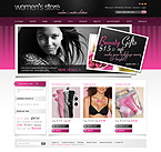 webdesign : lingerie, shop, cosmetic