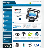 webdesign : diving, oxygen, life-guard