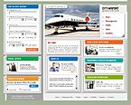 webdesign : airlines, airport, testimonials