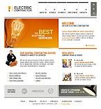 webdesign : electrician, lighting, testing
