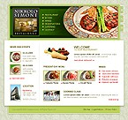 webdesign : food, waiters, launch