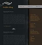 webdesign : Gothic, journal, visitors