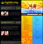 webdesign : nightlife, party, songs