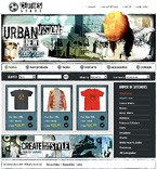 webdesign : online, shirt, footwear