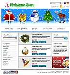webdesign : Santa, books, delivery