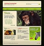 webdesign : reserve, parrot, conservation