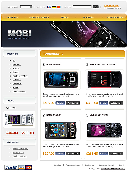 webdesign : Big, Screenshot 20111