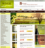 webdesign : wine, traditions, Pinot
