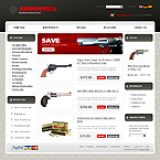 webdesign : armourer, store, products