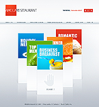 webdesign : dishes, specials, about