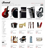 webdesign : store, sound, loud