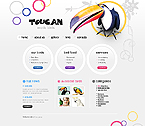 webdesign : parrot, feather, gallery