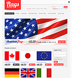 webdesign : flag, shop, memorial