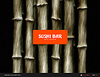 webdesign : sushi, deserts, waiters