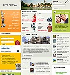 webdesign : town, guide, tourism