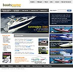webdesign : boats, tournament, motor